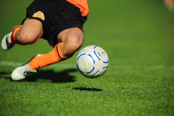 サッカーで捻挫する前の写真